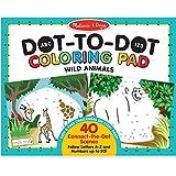 Melissa & Doug  ABC 123 Wild Animals Dot-To-Dot Coloring Pad
