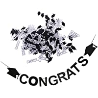 Kesoto 紙吹雪 卒業バナー お祝い パーティー 卒業式 写真小物 デコレーション