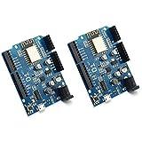WOWOONE Smart Electronics ESP-12E WeMos D1 WiFi uno Based ESP8266 Shield for arduino Compatible (2PCS)