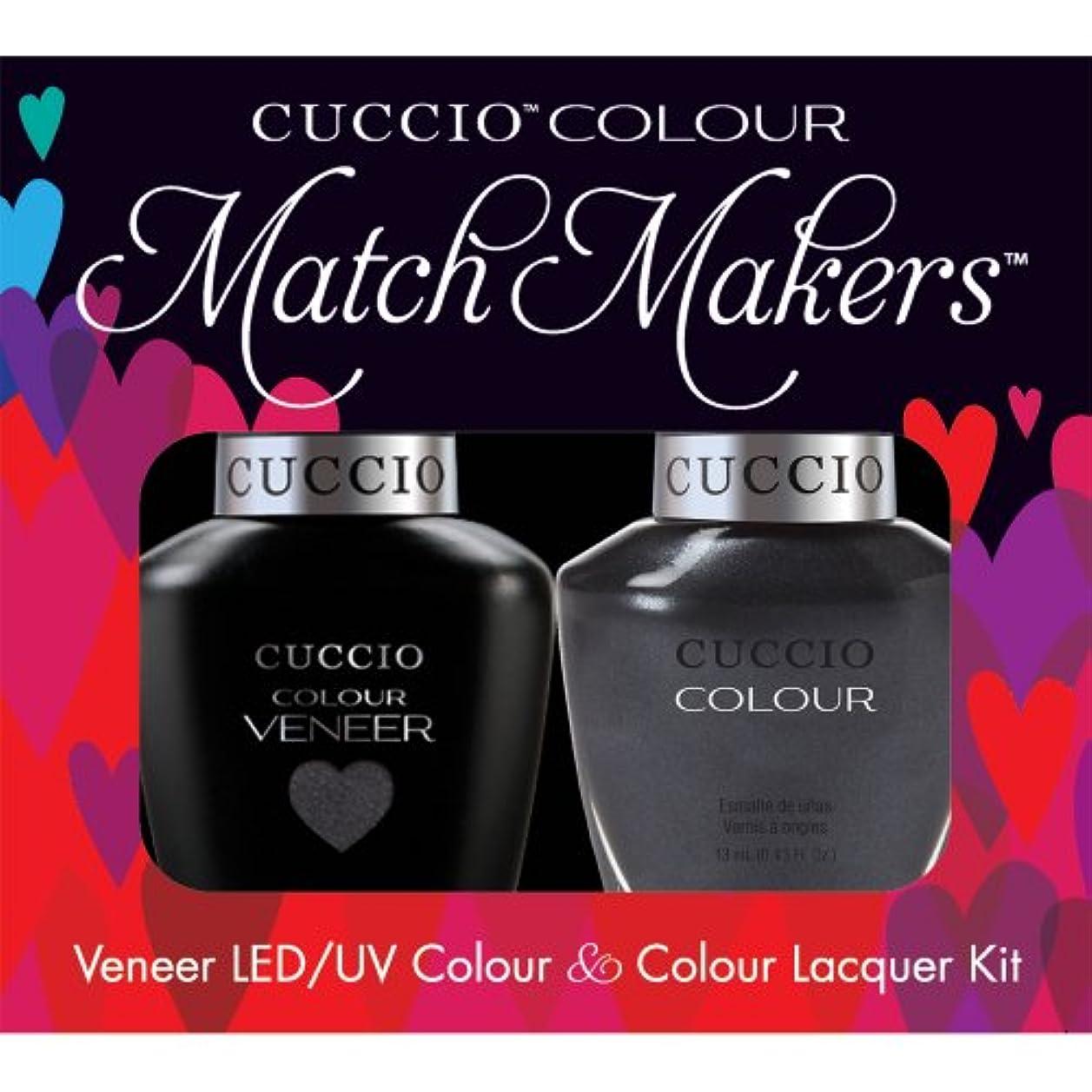 通信網練る乳製品Cuccio MatchMakers Veneer & Lacquer - Oh My Prague - 0.43oz / 13ml Each