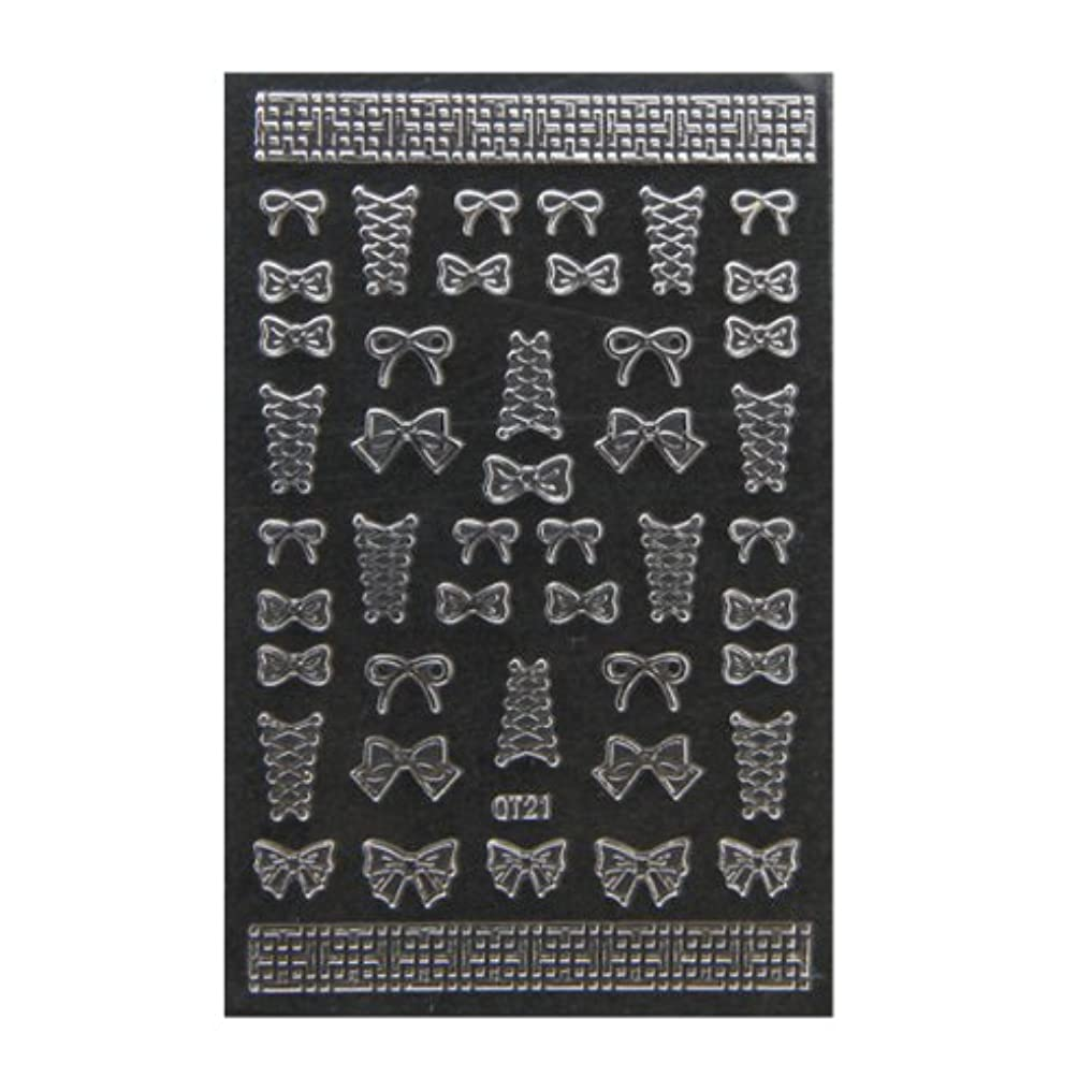炭素ハム社会主義ネイルシール 3D ネイルシート ファッションネイル メタリックシール47 (ネイル用品)