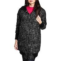 TATRAS Women's LTA19A469919 Grey/Black Wool Coat