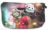 【560kick】 宇宙 遊泳 パンダ 子猫 飛行士 柄 ポーチ メイクグッズ 収納 ペンケース 小物入れ