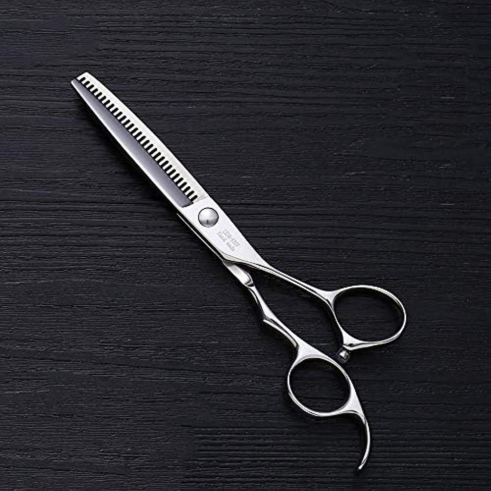 モンスターより多い認知6インチV型30歯散髪用はさみ、美容院プロフェッショナル理髪用はさみ ヘアケア (色 : Silver)