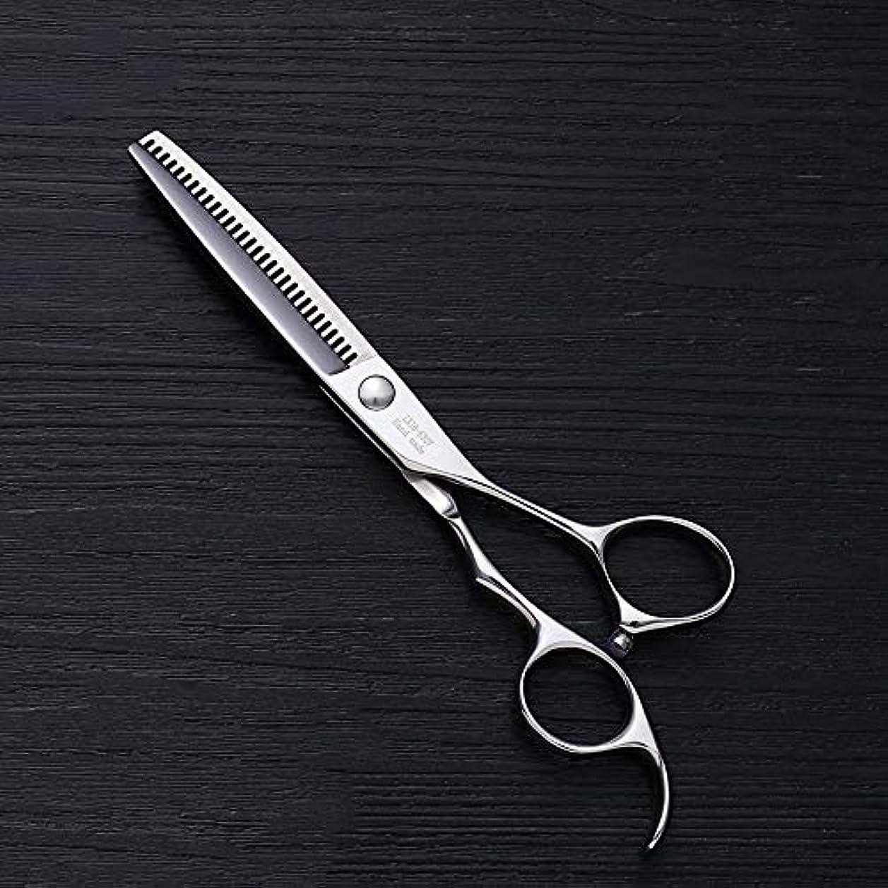 タイルストロークラッカス理髪用はさみ 6インチ美容院プロの理髪はさみ、V型30歯散髪はさみ散髪はさみステンレス理髪はさみ (色 : Silver)