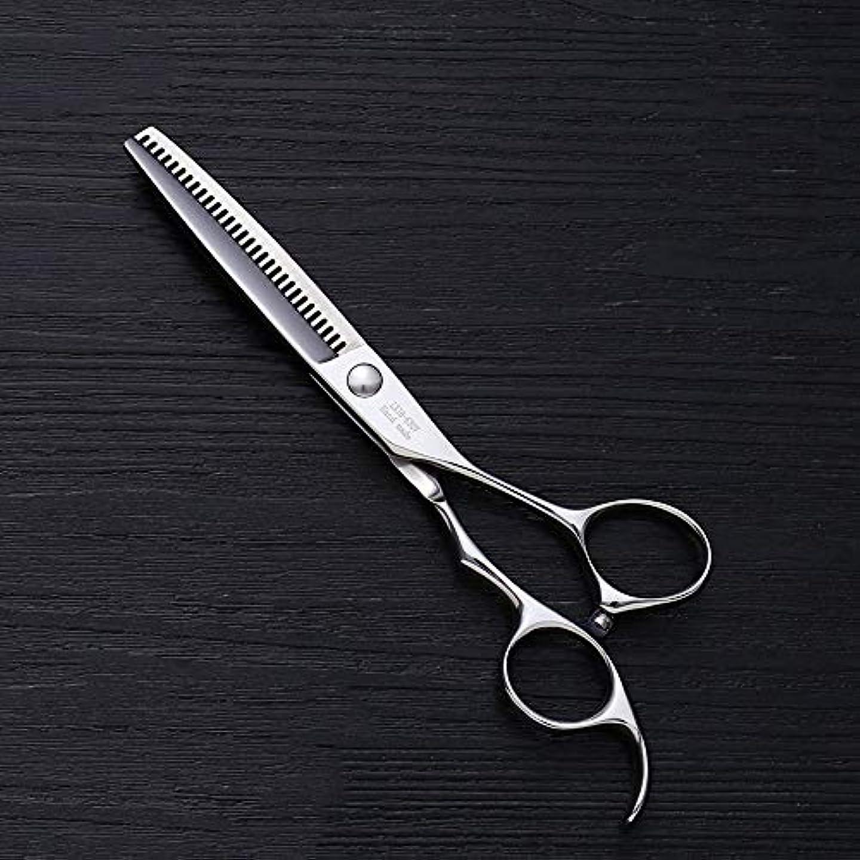 ベイビー貧困論理6インチV型30歯散髪用はさみ、美容院プロフェッショナル理髪用はさみ モデリングツール (色 : Silver)
