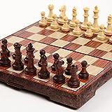アンティーク チェス マグネット 木製風 ボードを折りたた...