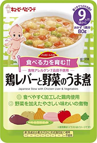 ハッピーレシピ 鶏レバーと野菜のうま煮 80g×6袋