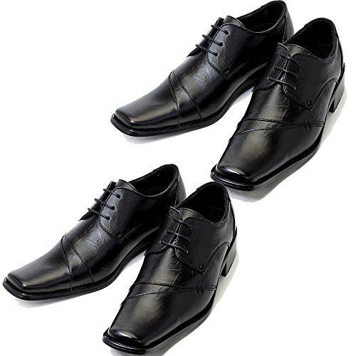 aaafe75827437 (ルミニーオ)luminio 2足セット ビジネスシューズ 靴 メンズ シューズ 紳士靴 イタリアンデザイン  ブランド 041 (25.0