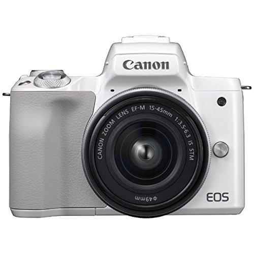 キヤノン EOS Kiss M 【EF-M15-45 IS STM レンズキット】 (ホワイト/ミラーレス一眼カメラ) EOSKISSMWH1545ISLK