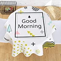 厚く コットンリネン テーブル,北欧 防水 テーブル クロス,卓上カバー キッチン ダイニングの卓上装飾用-E 110x170cm(43x67inch)