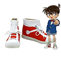 Detective Conanケース閉じたアニメコナンコスプレ靴ブーツカスタムMade