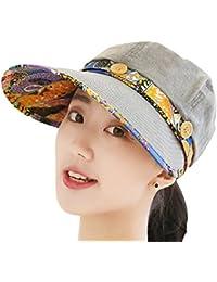 (デマ―クト)De.Markt 帽子 キャンバス レディース ボタン付き 取り外し可能 サイズ調節可 折りたたみ可 つば広 日よけ帽子 通気性抜群 UVカット 春夏 旅行 自転車 ビーチ