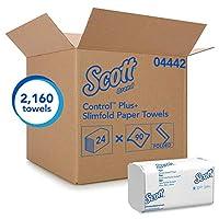 キンバリーProfessional Kleenex Slimfoldハンドタオル,ホワイト, 90/パック、24/カートン(04442)