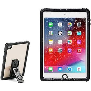 サンワダイレクト iPad mini4専用 ハードケース スタンド付き 耐衝撃 防水 リングホルダー付 首掛け・肩掛け対応 200-TABC018WP