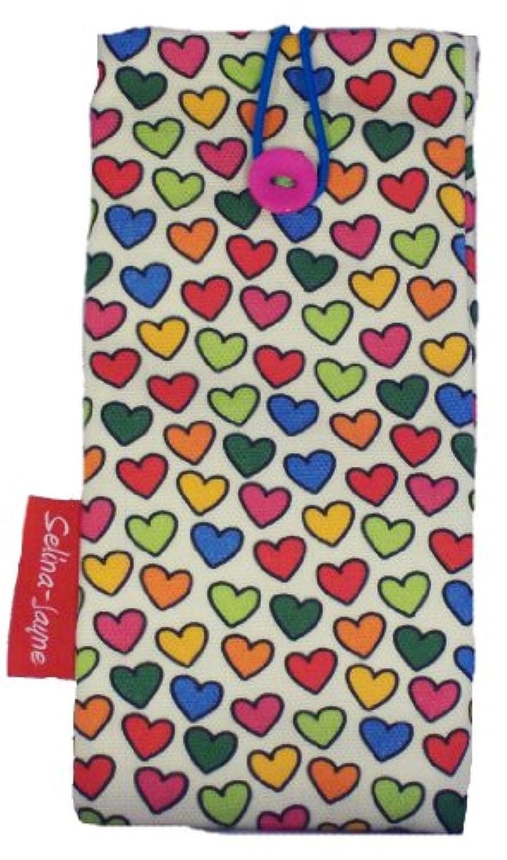 selina-jayne Hearts Limited Edition Designer Soft Fabricメガネケース