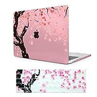 Batianda New MacBook Pro 13 インチ 2016 2017 ケース, 超薄型 macbook pro 13 a1706 ハードカバー Touch Bar & Retina Display 搭載-ピンク 桜