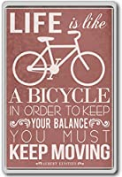 Albert Einstein, Life Is Like A Bicycle In Order To Keep... - Motivational Quotes Fridge Magnet - ?????????