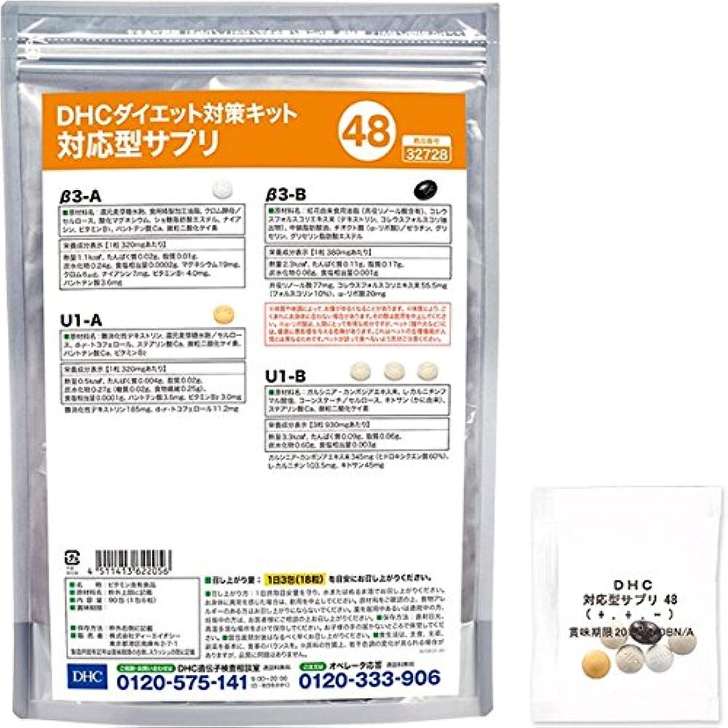 小さい机甘味DHCダイエット対策キット対応型サプリ48