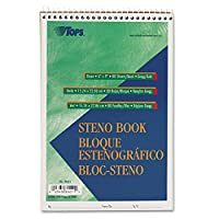 トップス( R ) Steno Books、6インチのX 9In。、Greggルールド、80ページ、Green Tint、モデルtop8021、Office Shop