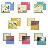 MinniLove グリーティングカード 感謝カード 手描きグリーティングカード 小さなグリーティングカード 適合 誕生日/バレンタインデー/..