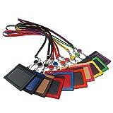 (シールアル) リールつきIDカードホルダー 社員証 ケース 本革 革 レザー ネックストラップ IDカードケース パスケース 横型 両面 日本製 バイカラー 10色 CLuaR-CH