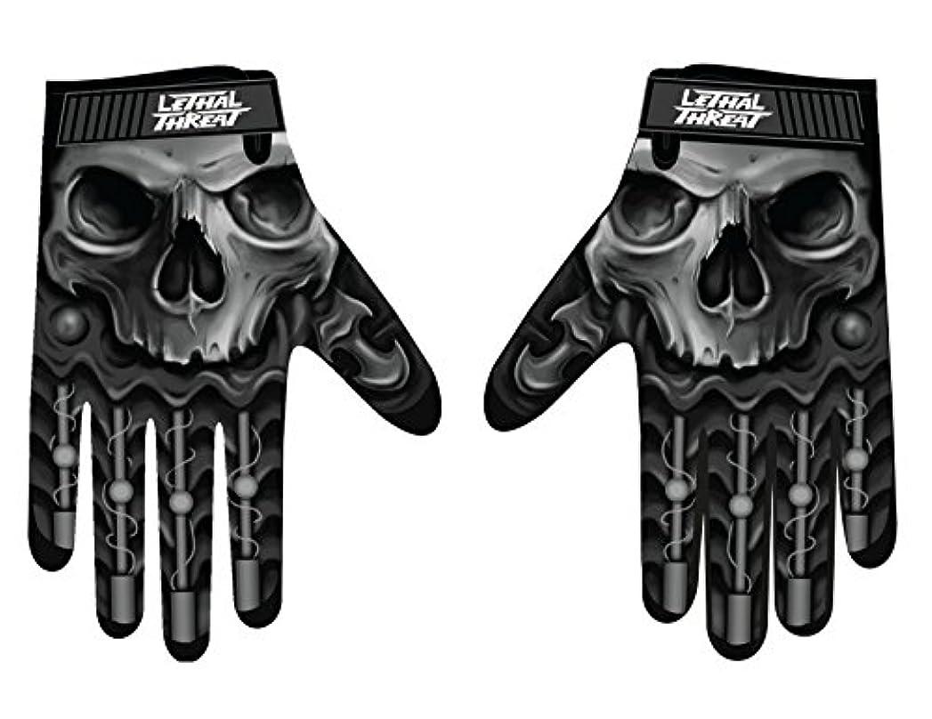 配置丁寧フォークLethal Threatメンズ手袋(スカルメンズHand ) (、、1パック M ブラック GL15004M