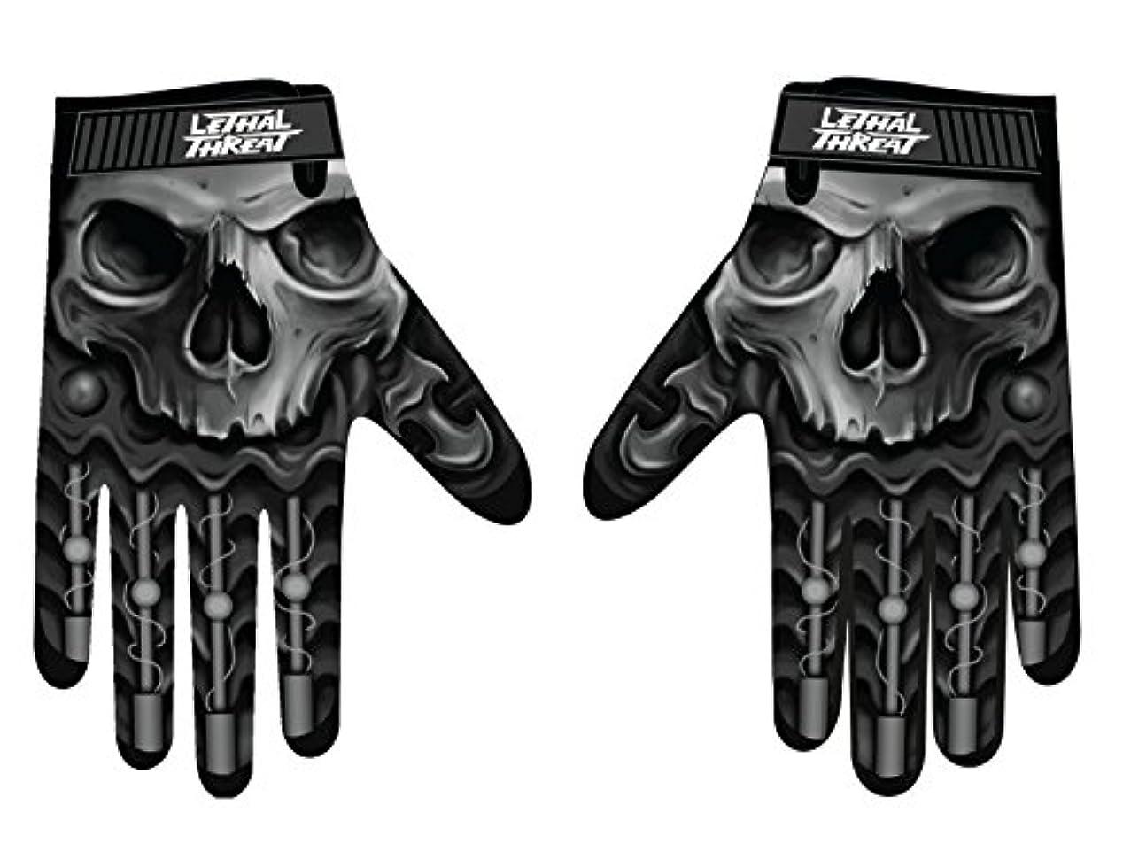 セマフォ詩省略するLethal Threatメンズ手袋(スカルメンズHand ) (、、1パック M ブラック GL15004M