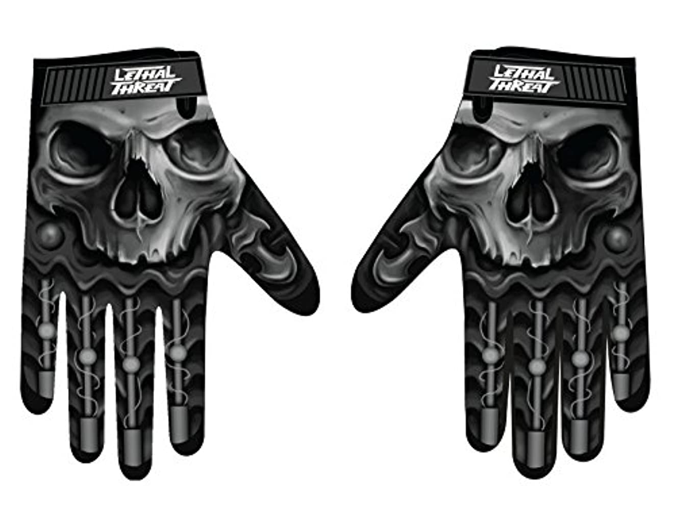 作曲する気付く接続詞Lethal Threatメンズ手袋(スカルメンズHand ) (、、1パック M ブラック GL15004M
