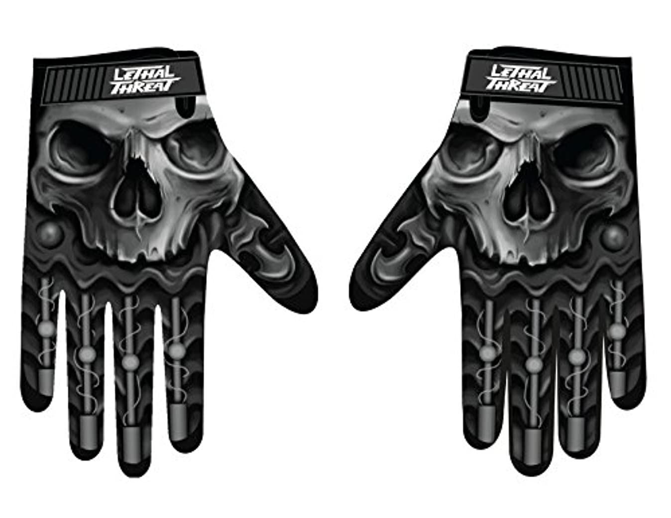 九標準文Lethal Threatメンズ手袋(スカルメンズHand ) (、、1パック M ブラック GL15004M