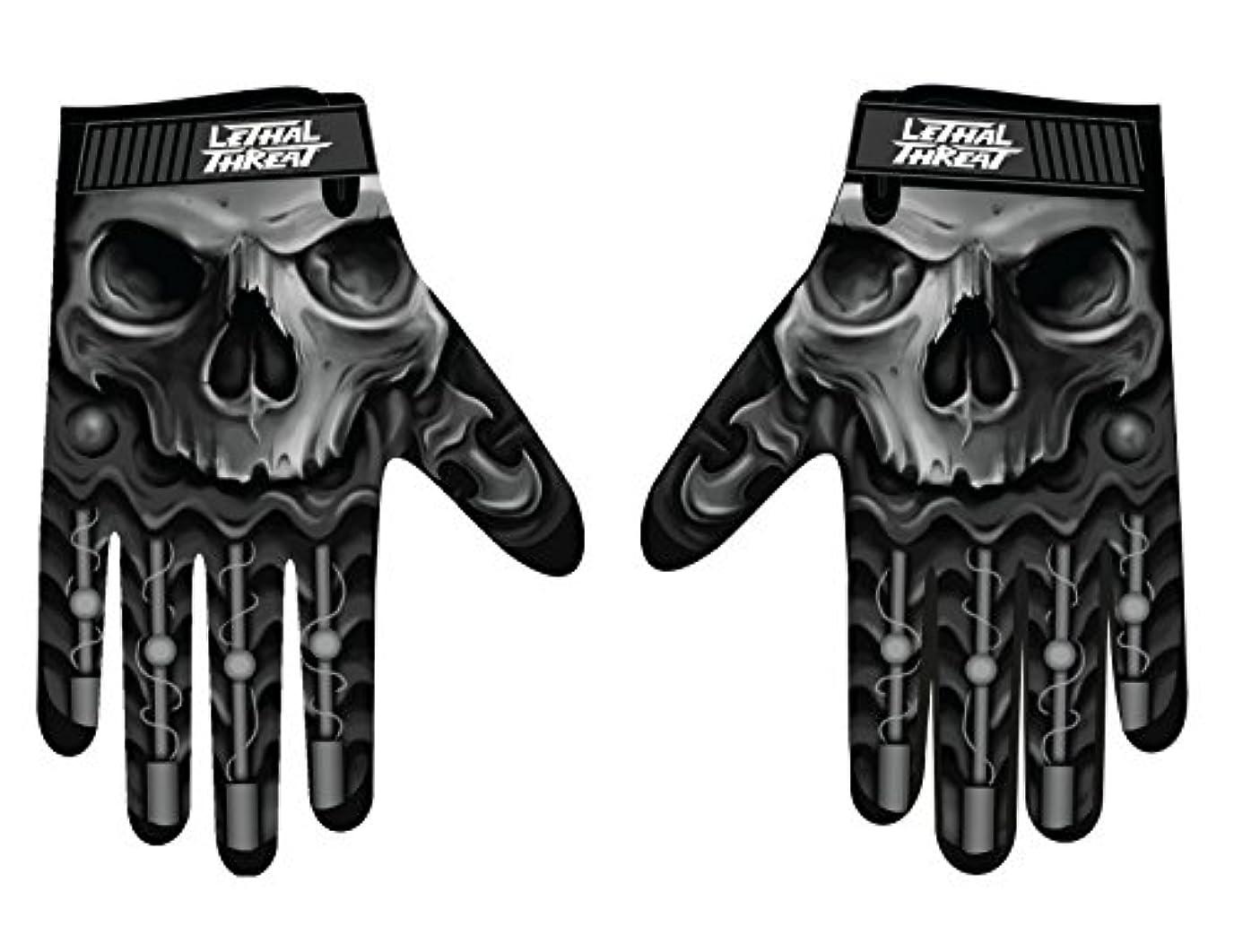 振動するバイナリ排気Lethal Threatメンズ手袋(スカルメンズHand ) (、、1パック M ブラック GL15004M