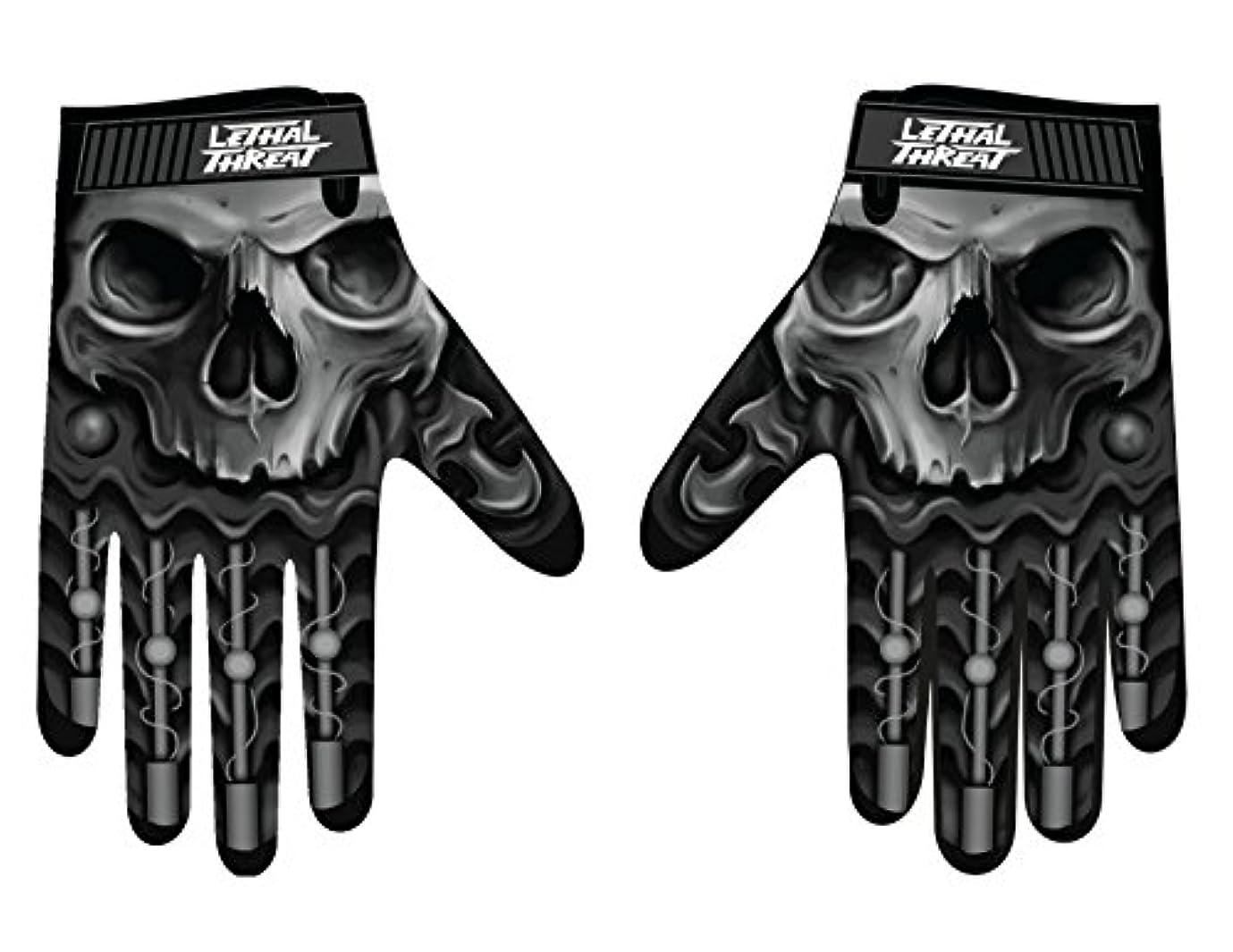 Lethal Threatメンズ手袋(スカルメンズHand ) (、、1パック M ブラック GL15004M