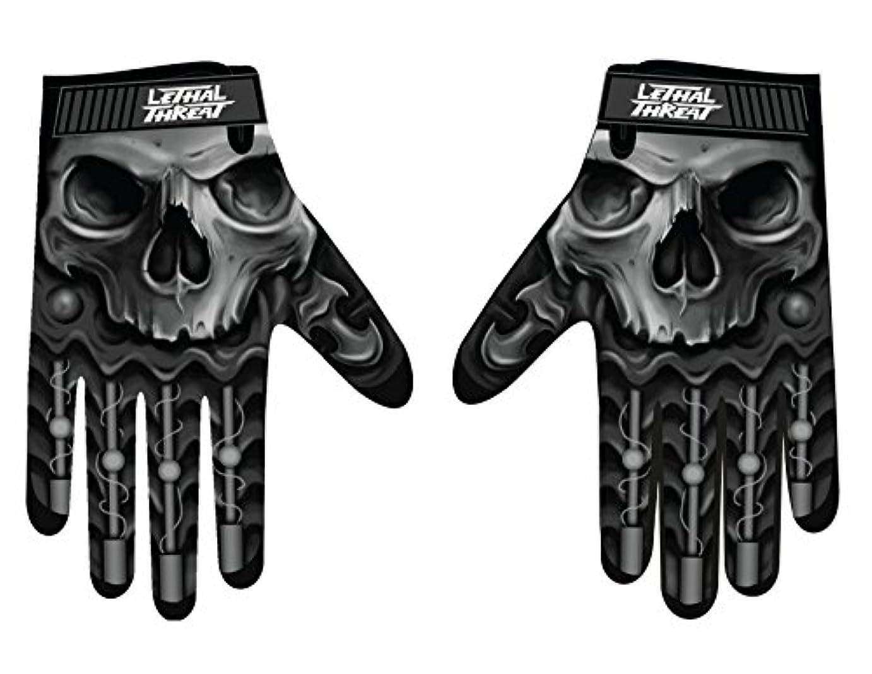 フォージ安西ローンLethal Threatメンズ手袋(スカルメンズHand ) (、、1パック M ブラック GL15004M