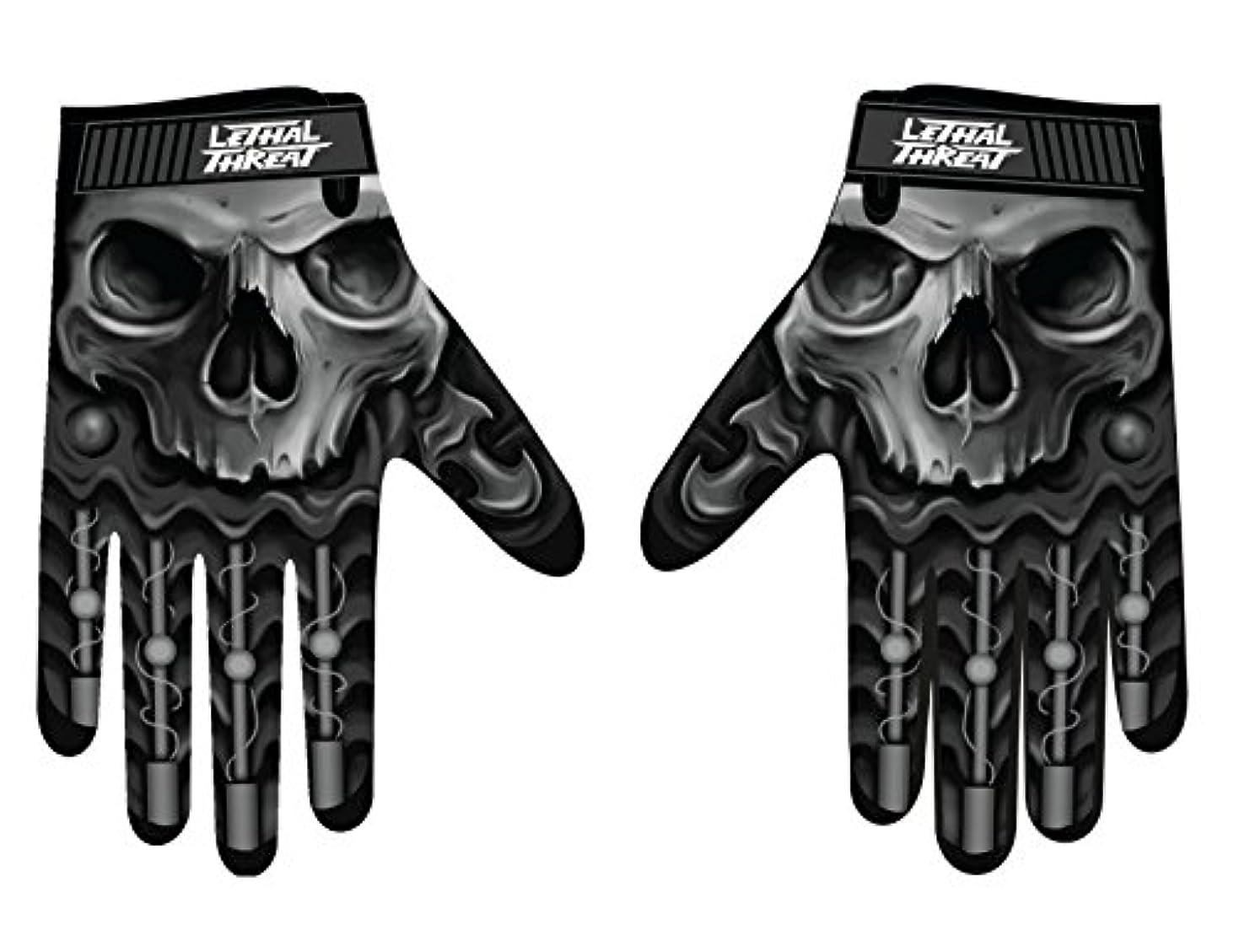 摩擦作家ジェスチャーLethal Threatメンズ手袋(スカルメンズHand ) (、、1パック M ブラック GL15004M