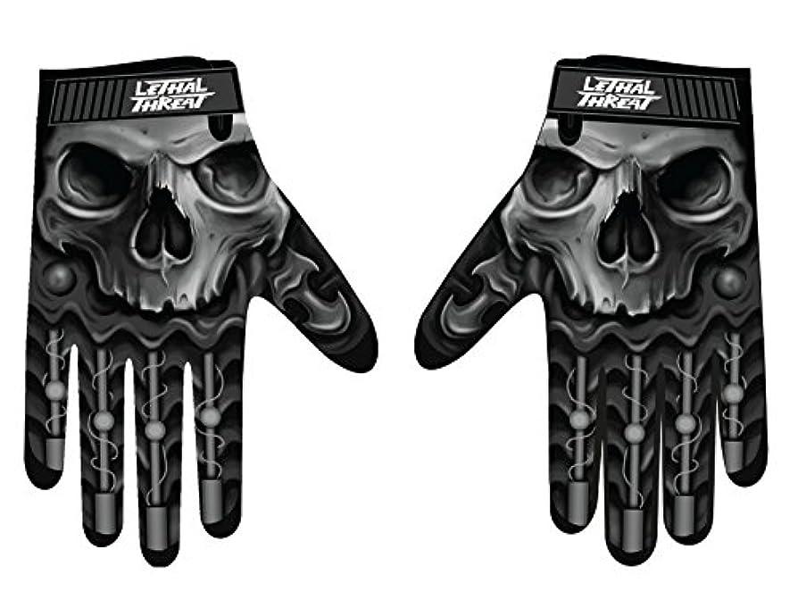 株式会社ヘッドレスゴシップLethal Threatメンズ手袋(スカルメンズHand ) (、、1パック M ブラック GL15004M
