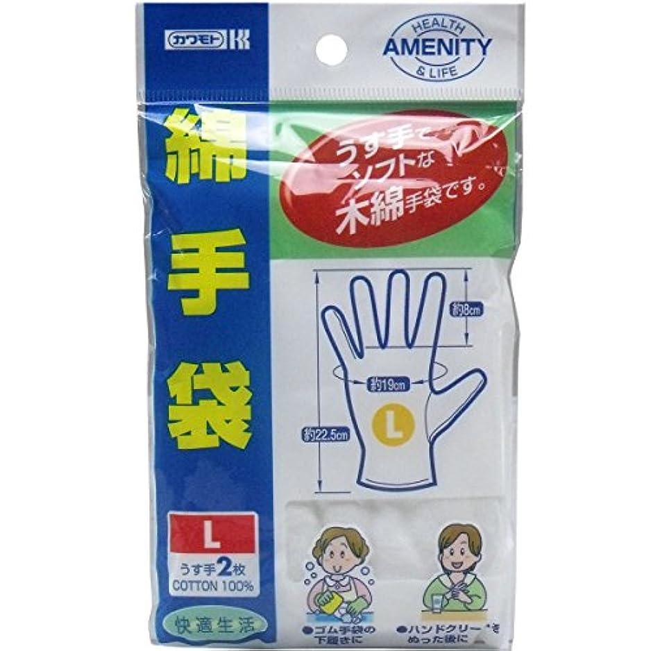 削減欲求不満コンテンツ綿手袋 Lサイズ うす手2枚入×20個セット