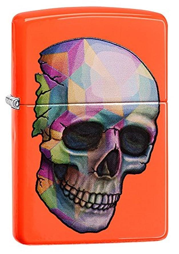 一節半ば不可能なZIPPO(ジッポー) Skull (スカル) ライター 日本未発売 29402 Neon Orange [並行輸入品]