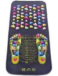 YZRCRKFatherの日ギフトヘルスケアの足acupoints足のマッサージブランケットの模造ペブルのマッサージパッド指圧板 (サイズ さいず : M)