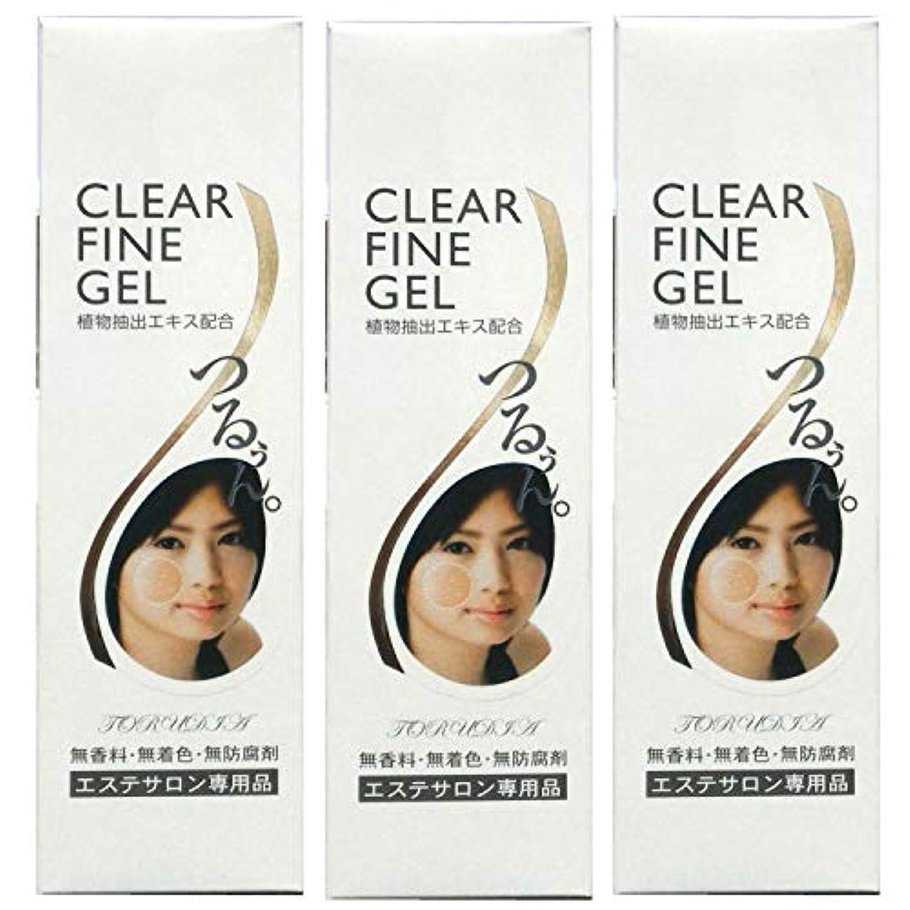ピニオン診断する祈る【3個セット】CLEAR FINE GEL(クリアファインジェル)250g