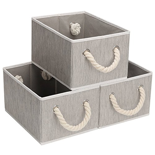 StorageWorks 不織布収納バスケット ヒモ取っ手付き 折りたたみ収納カゴ どこでも収納ボックス インナーボ...