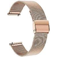 for Fossil Women's Gen 4 Venture HR Watchband, TRUMiRR 18mm Mesh Woven Stainless Steel Watch Band Quick Release Strap Wrist Bracelet for Fossil Q Women's Gen 3 Venture