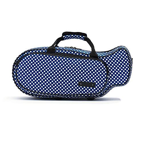 ボーモント Beaumont トランペット用 セミハードケース カラー&デザイン:ブルー・ポルカ・ドット