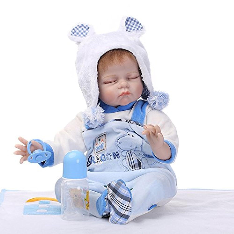 Baynne 21.6インチ フルボディ ソフトシリコンビニールベビードール 新生児 ベビードール おもちゃ ギフト 人形