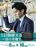 【最先端Bluetooth 5.0+EDR搭載】Bluetooth イヤホン Hi-Fi 高音質 自動ペアリング 「24時間連続駆動」完全ワイヤレスイヤホン 両耳/左右分離型 人間工学設計 マイク付き Siri&Google音声対応 ノイズアイソレーション 防汗防滴「コンパクト持ち運び便利」日本語説明書付き iPhone/Android適用「12ケ月保証」