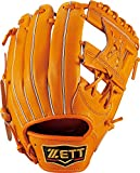 ZETT(ゼット) 野球 軟式 セカンド・ショート グラブ(グローブ) プロステイタス (右投げ用) BRGB30710 オレンジ