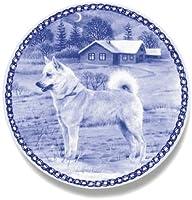 デンマーク製 ドッグ・プレート (犬の絵皿) 直輸入! Norwegian Buhund / ノルウェージアン・ブーフント