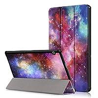 TenYll Huawei MediaPad T5 10ケース、プレミアム品質PUレザーケースシェル軽量スタンドケースカバーHuawei MediaPad T5 10タブレット