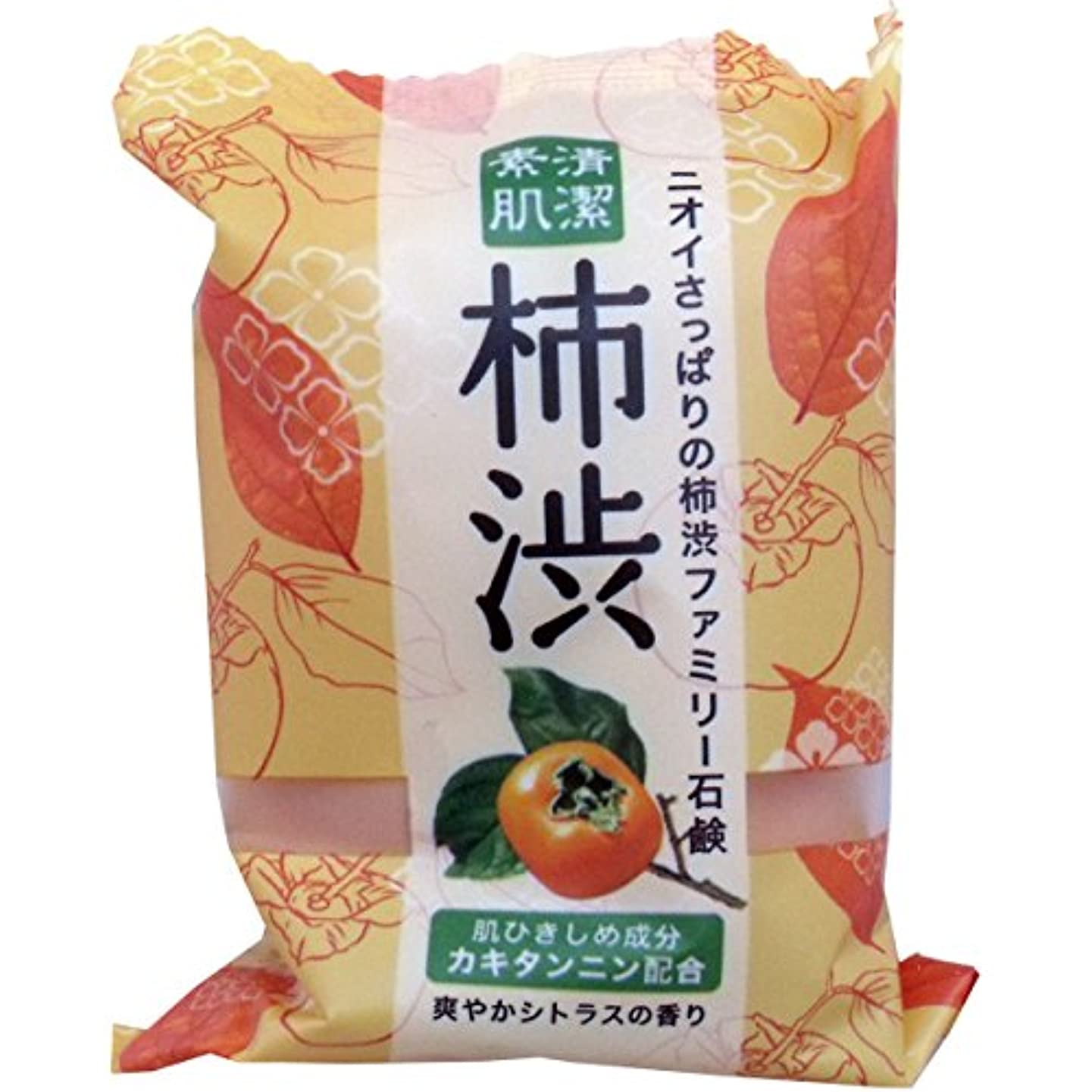 トーン湿ったフラップペリカン石鹸 ファミリー柿渋石鹸(1個) ×2セット