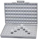 AideTek BOX-ALL パーツケース チップ抵抗 チップコンデンサ 144値を確実に整理収納 専用ラベルシール付 -