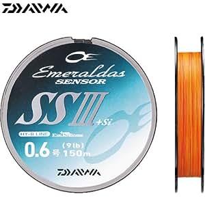 ダイワ(Daiwa) PEライン エメラルダスセンサー SS III +Si 150m 0.8号 11lb オレンジ